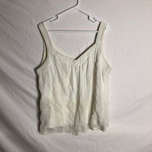 Off white tank top